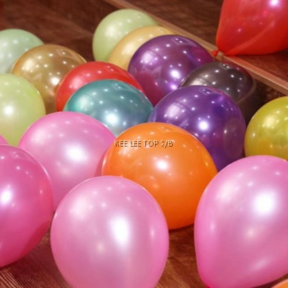 Colourful Round Balloon Party 珠光气球